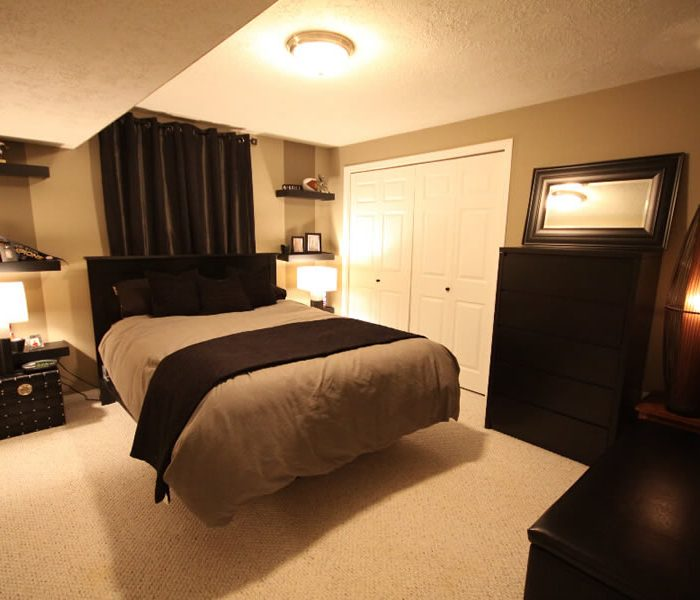 basement bedroom interior design